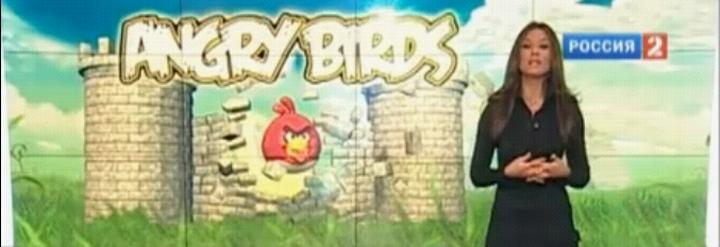 Репортаж про Angry Birds на канале Россия 2