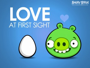 Angry Birds Валентинка