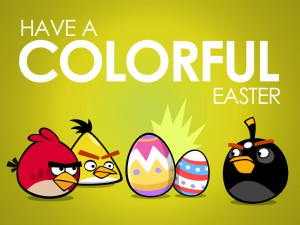 Пасхальная открытка Angry Birds Seasons