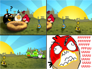 Angry Birds Ffruustration