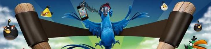 Баннер рингтона Angry Birds Rio