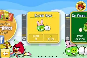Angry Birds Seasons - Easter Eggs - Экран выбора эпизодов.
