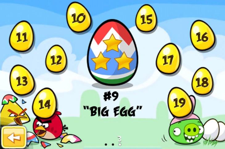 Angry Birds Seasons Easter Eggs Золотые Яйа - нумерация