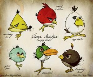 Рисованные Genus Aves Iratus (Злые Птицы)