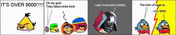 Мини-комиксы про Angry Birds от SailorRaybloomDZ