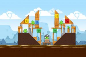 Angry Birds Chrome - Уровень Dimension №1