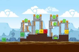Angry Birds Chrome - Уровень Dimension №2