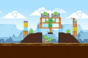 Angry Birds Chrome - Уровень Dimension №5