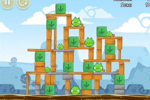 Angry Birds Chrome - Уровень Dimension №7