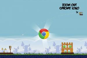 Angry Birds Chrome - расположение Логотипа на Уровне 1-16