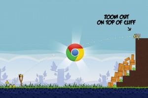 Angry Birds Chrome - расположение Логотипа на Уровне 1-18