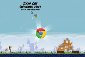 Angry Birds Chrome - расположение Логотипа на Уровне 1-20