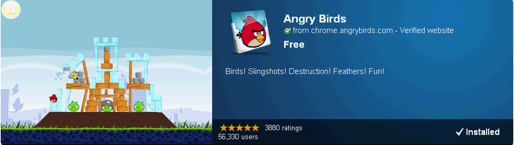 Онлайн Web версия Angry Birds в Google Chrome Web Store