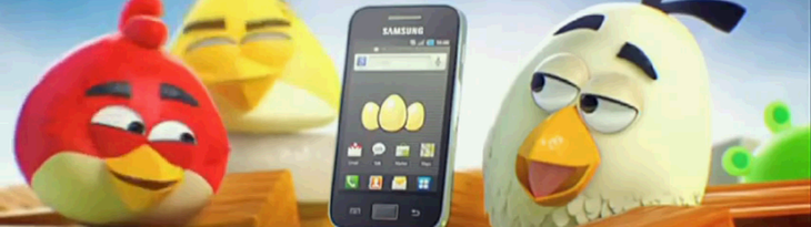 Angry Birds и Samsung Galaxy Ace