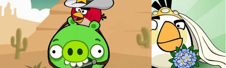 Facebook карточки Angry Birds