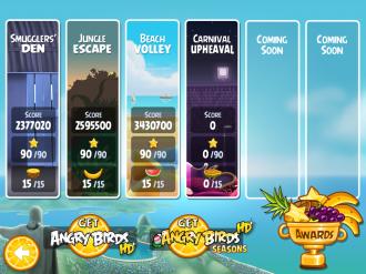 Angry Birds Rio Carnival Upheaval - Выбор эпизода