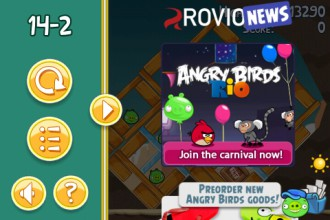 Angry Birds Rovio News активированы