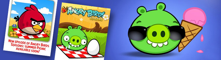 Скоро появится Angry Birds Seasons Summer Pignic