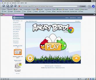 Скриншот Angry Birds Вконтакте
