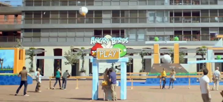 Angry Birds в Барселоне