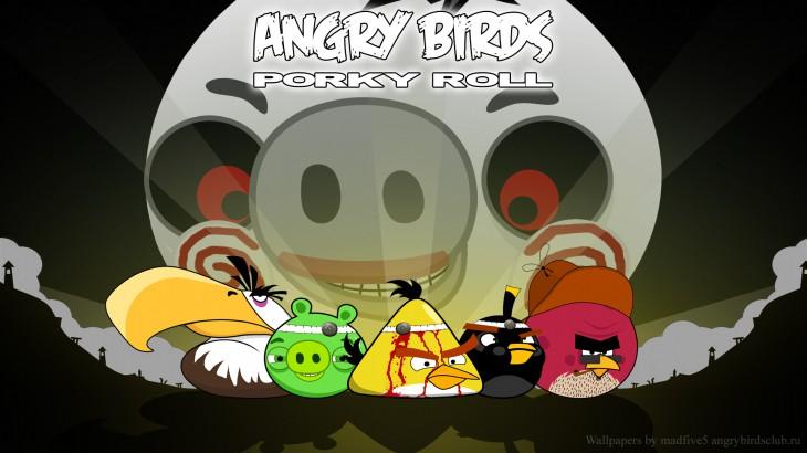Обои Angry Birds Porky Roll