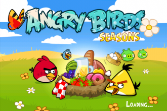 Angry Birds Seasons - Summer Pignic - Экран загрузки