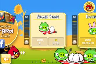 Angry Birds Seasons - Summer Pignic - Экран выбора эпизодов