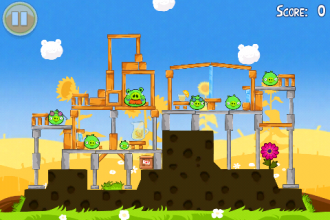 Angry Birds Seasons - Summer Pignic - Первый уровень