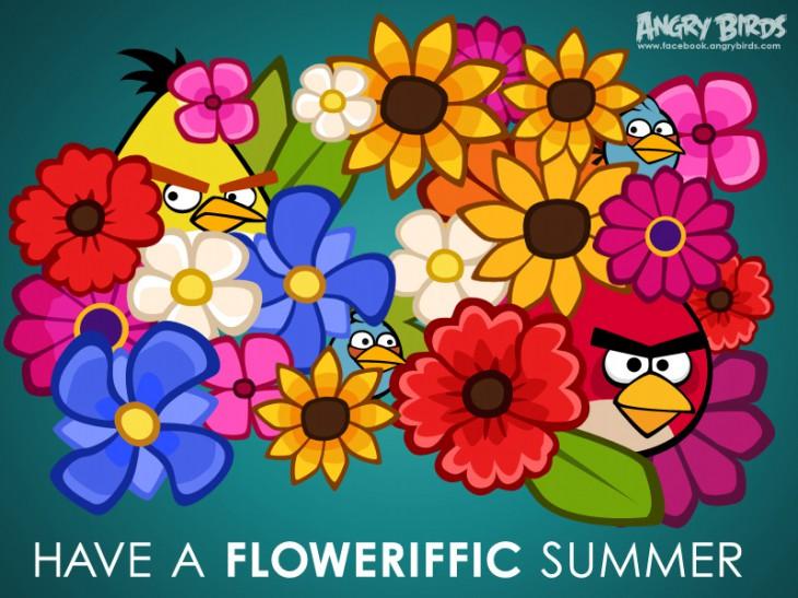 Facebook-карточка Цветочное лето