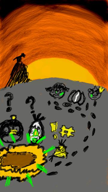 Фанарт Angry Birds Halloween
