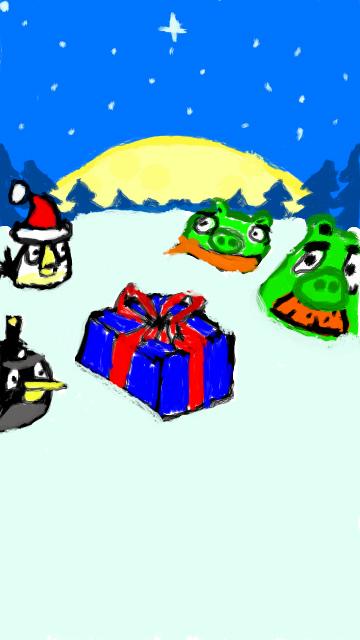 Фан-арт Angry Birds Seasons Greedings