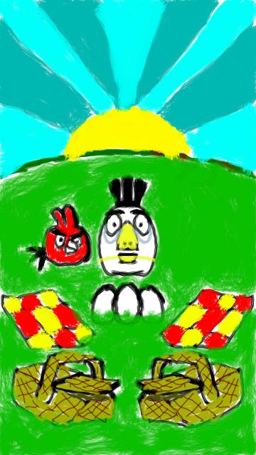 Фан-арт Angry Birds Seasons Summer Pignic