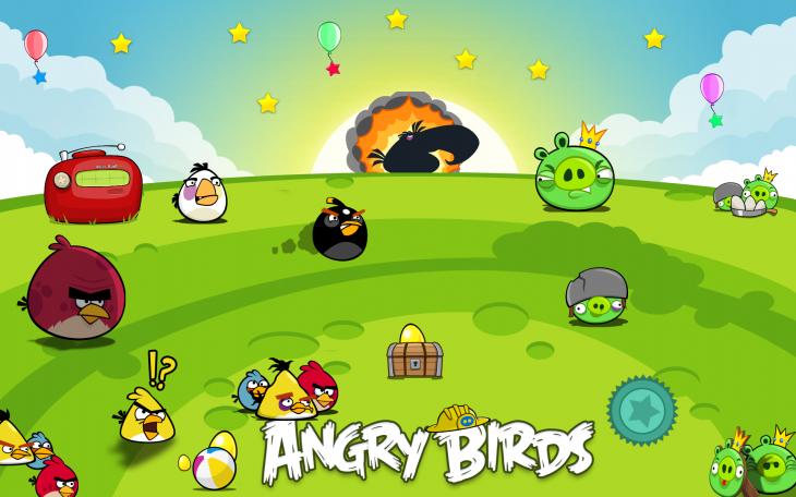 Обои Angry Birds в полях