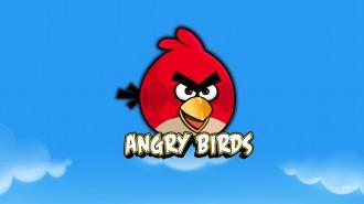 Обои Angry Birds красная птица анфас