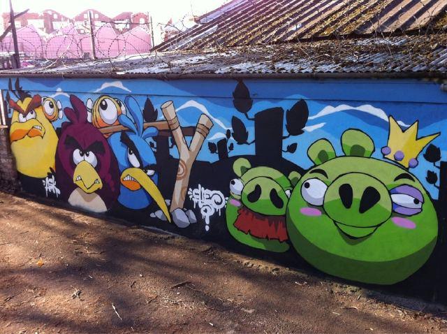 Angry Birds граффити