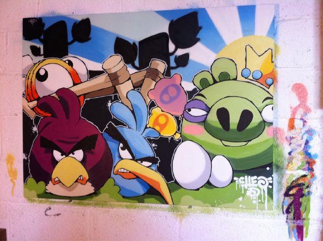 Angry Birds ещё одно граффити