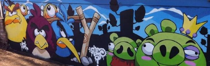 Граффити Angry Birds аннонс