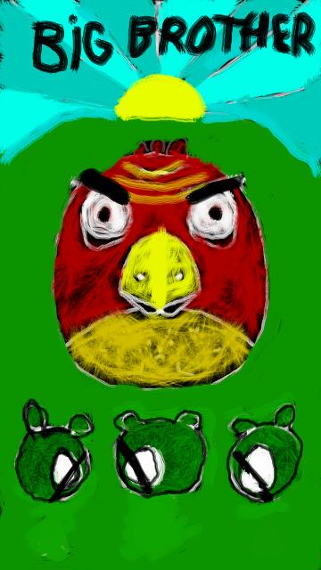 Фан-арт Angry Birds Большой Брат