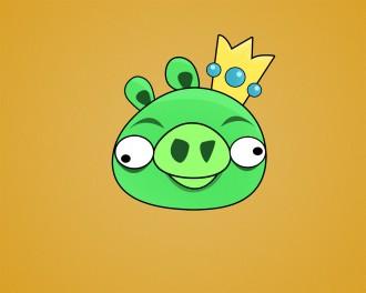 Обои Angry Birds - Королевский Свин
