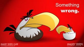 "Обои Angry Birds Mighty Eagle ""Чё-то не так!"""