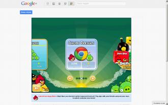 Angry Birds Google+ выбор эпизода Chrome Dimension
