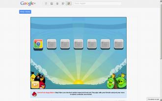 Angry Birds в Google+ выбор уровней Chrome Dimension