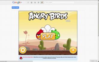 Angry Birds в Google+ Главное меню