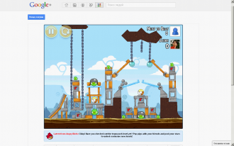 Angry Birds в Google+ - Teamwork уровень 1-1