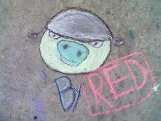 Angry Birds мелками - Шлемафон