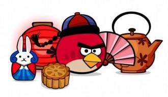 Angry Birds Seasons Лунный Фестиваль Открытка