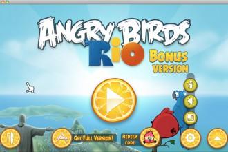 Angry Birds Rio Bonus - Домашний экран