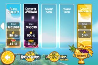 Angry Birds Rio Golden Beachball - выбор эпизода