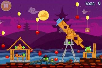 Angry Birds Seasons Mooncake Festival - Уровень Большой Лунный Пирог