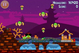 Angry Birds Seasons Mooncake Festival - Уровень Золотой Лунный Пирог